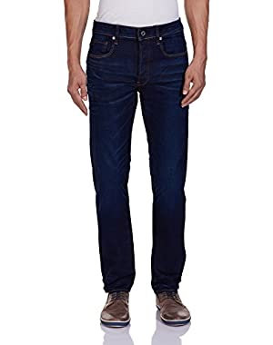 Men's 3301 Slim Fit Jean In Hydrite Blue Stretch Denim Blue Aged