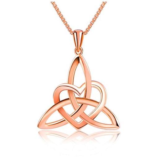 b83c397b737f Sterling Silver Good Luck Irish Celtic Knot Triangle Lover Heart ...