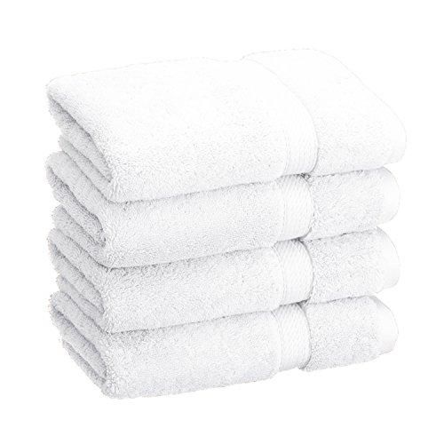 4-Piece Hand Towel Set, Premium Long-Staple Cotton, 900 GSM, White