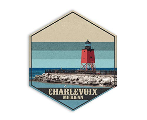 Printed Marketplace Michigan State Wall Decor Canvas Art collection-Collect them all! (Charlevoix)