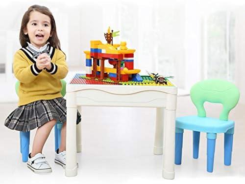 Bestoyz Juego de Mesa y sillas 3 en 1 para Construir, Jugar y Aprender Bloques de construcción, Juego de Mesa y sillas para niños de 3 a 8 años: Amazon.es: Juguetes y juegos