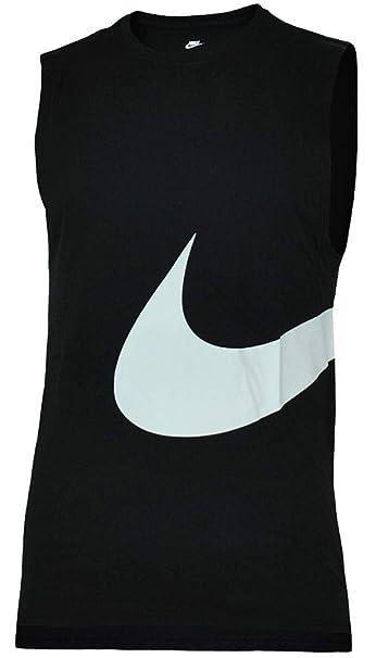 new authentic save up to 80% new high quality Nike Hybrid Swoosh Logo Vest Shirt Herren Tank Top Muskelshirt Schwarz/Weiß