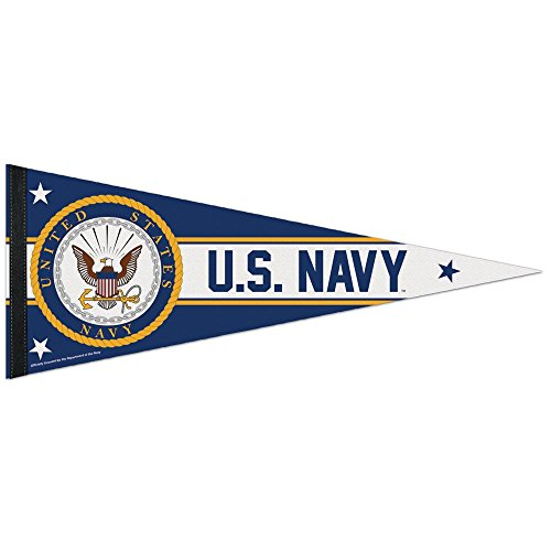 United States Military Navy U.S. Navy Premium Pennant, Multicolor, One Size
