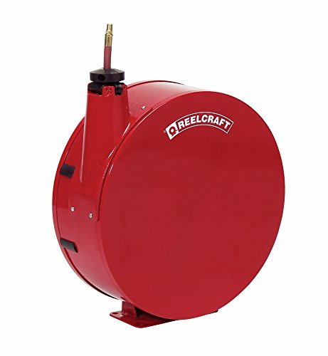 Reelcraft 7840-ELP 1/2'' x 40' Enclosed Spring Retractable Hose Reel, 300 PSI w/ Hose by Reelcraft
