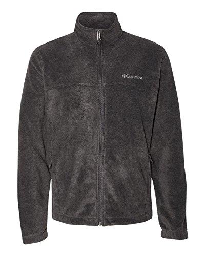 Columbia Men's Steens Mountain Front-Zip Fleece Jacket (Charcoal Heather 01, - Zip Jacket Charcoal