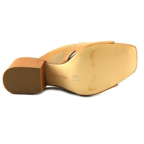 sale best place sale best seller Calvin Klein Womens Joelle Open Toe Mules Almond Tan amazon sale online discount high quality largest supplier sale online zpAB1zxP