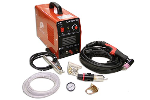 (Lotos LTP5000D 50Amp Non-Touch Pilot Arc Plasma Cutter, Dual Voltage 110V/220V, 1/2 Inch Clean Cut, Brown)
