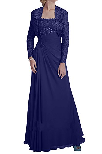 mit Kleider Jugendweihe Promkleider Ballkleider Brau La Blau Bolero Festlichkleider mia Royal Dunkel Brautmutterkleider Chiffon Abendkleider 8YwSYvTq