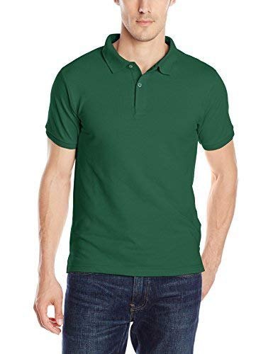 IZOD Uniform Young Men's Short Sleeve Pique Polo, Hunter, X-Large