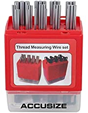 Accusize Industrial Tools U.S. and Metric Thread Measuring Wire Sets, Eg06-1002