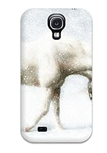 Hot Fashion VBJGuNb10267fokST Design Case For Galaxy S4 Cover Protective Case (girl Leading A Horse)