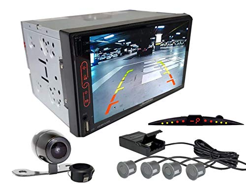 Multimidia Mp7 RS-707MP7 Com Câmera De Ré RS-121BR E Sensor De Estacionamento RS-204BR CINZA
