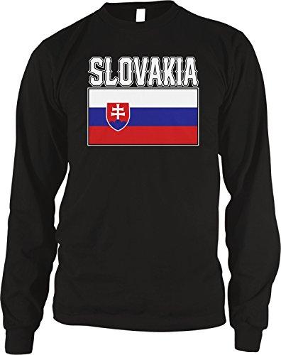 - Amdesco Men's Slovak Flag, Love Home, Flag of Slovakia Thermal Shirt, Black Large