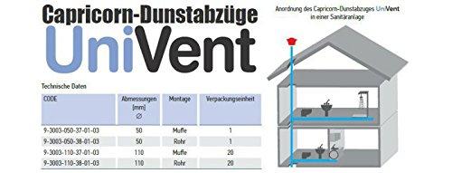 techo de salida de vapor original sistemas de apertura de DN 160//150 para 150mm-tubo Ventilaci/ón de la capilla de salida de aire