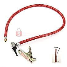 Bike Tyre Hand Air Pump Inflator Replacement Hose Tube Rubber For Tire