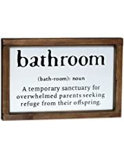 Lavender Inspired Bathroom Funny Sign