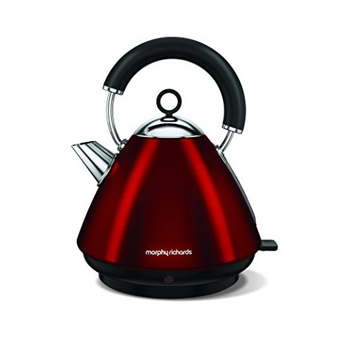Morphy Richards Accents Pyramid Kettle 102029 Traditional Electric Kettle Red