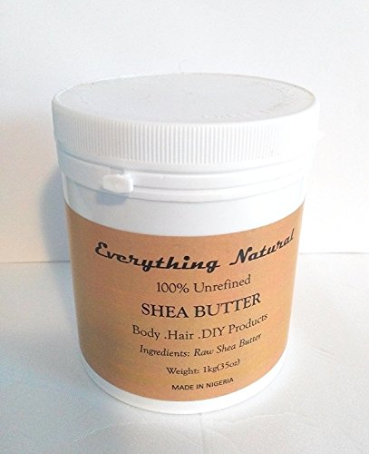 EXTRA-LARGE 100% PURE Organic Grade A Shea Butter : 1Kg . Us