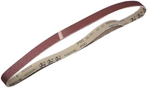 uxcell サンディングベルト25 mm x 1065 mm80グリット アルミニウム酸化物 2個