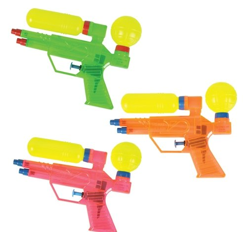 6.75'' DOUBLE BARRELED WATER SQUIRTER, Case of 240 by DollarItemDirect