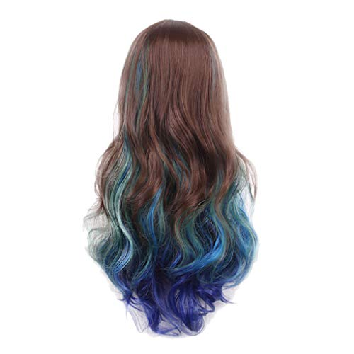 SOOTOP Wavy Long Curly Wigs Cosplay Daily Party Fashion Sexy Women Wigs Hair Extensions High Density Temperature Synthetic Soft & Smooth Colorful Natural Looking