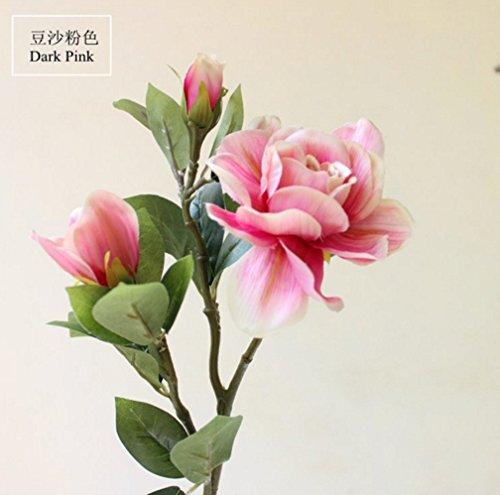 Skyseen-5PCS-Silk-Gardenia-Jasminoides-Artificial-Flower-Wedding-Decorative-for-Home-DecorationDark-Pink