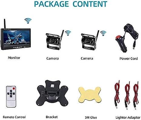 Oiliehu Wireless Rückfahrkamera Kit 7 Zoll Hd Tft Lcd Elektronik