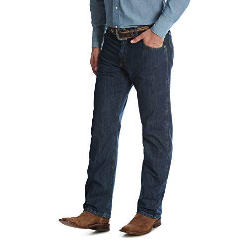 Wrangler Men's Premium Performance Cowboy Cut Regular Fit Jeans (42W x 32L, Dark Denim)