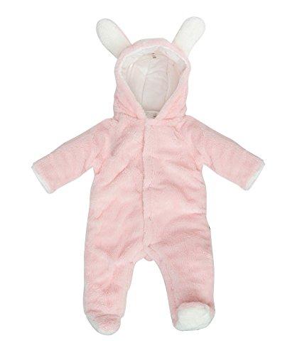Mikistory Newborn Unisex Baby Animal Romper Jumpsuit One Piece Outfit Snowsuit(0-3 Month, Pink (Infant Bunny Suit)