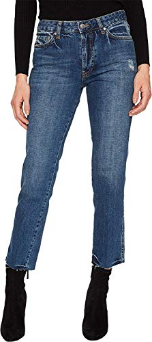 - Free People Women's Slim Boyfriend - Steel Blue Blue 28 26