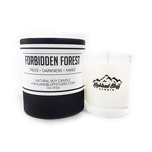 Forbidden Forest - 3oz Soy Candle - Trees, Darkness, and Magic - Signature Series Mini