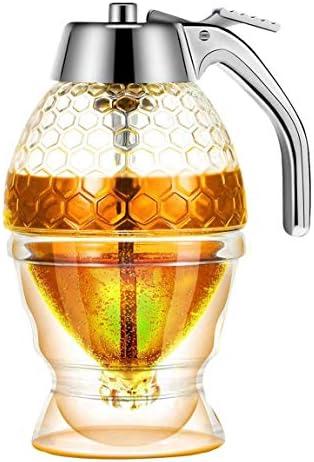 Kuinayouyi Honing DispenserGeen Druppelsiroop Suikercontainer met StandMooie Honing Kam Vormige Honing PotSiroop Suikercontainer