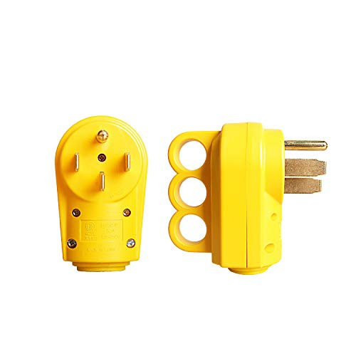 Epicord 50 AMP RV Receptacle Male Plug (14-50P) Electrical Plug Adapter with Handle
