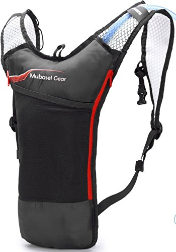 Hydration Backpack Pack With 2L BPA FREE Bladder - Lightweight Pack Keeps Liquid Cool Up to 4 Hours - Great Storage Compartments - Outdoor Sports Gear for Running Hiking Cycling (Day Hike Fanny Pack)