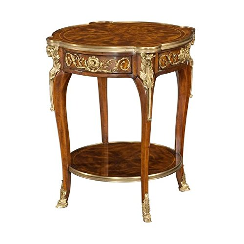 Louis XV Mahogany Lamp Table, round side table, 18th century style table, French Louis XV End Table ()