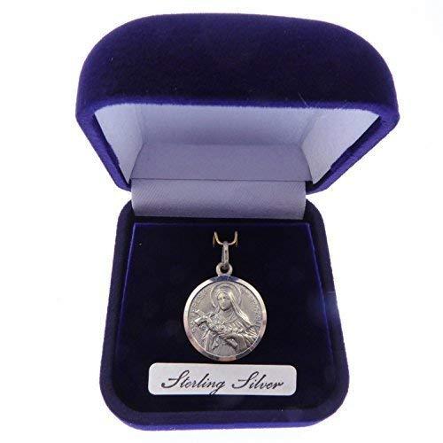 Rosary Heaven Sterling Silver St. Teresa Gift Boxed Medal 20mm Catholic