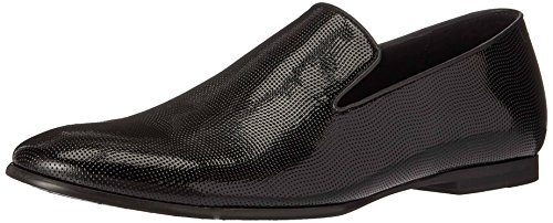 Calvin Klein Men's Navian Patent Grid Emboss Slip-On Loafer, Black, 9.5 M US by Calvin Klein