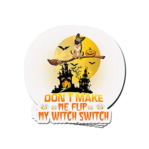 ViralTee 3 PCs Stickers German Shepherd Frise Dogs Halloween 4 × 3 Inch Die-Cut Decals ()