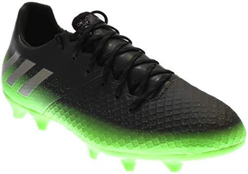 adidas Performance Men's Messi 16.2 FG Soccer Shoe,Dark Grey/Metallic Silver/Neon Green,11.5 M US (Cleats Adidas Green Soccer)
