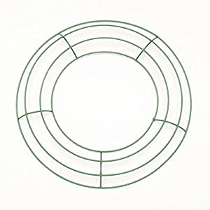 Metal Wreath Form - Green - 10 inches - 1 Piece 20