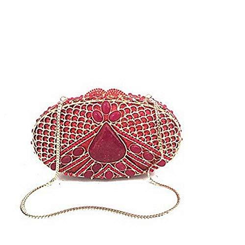Bande de chaîne en cristal de sac de soirée en métal d'unité centrale de sacs à main de femmes pour l'événement de mariage / soirée formelle toutes les saisons or rouge, un, taille unique
