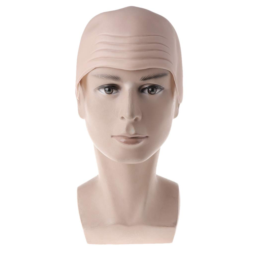 Shaoge Halloween Wigs Bald Funny Cosplay Props Masquerade Party Costume for Adults Kids