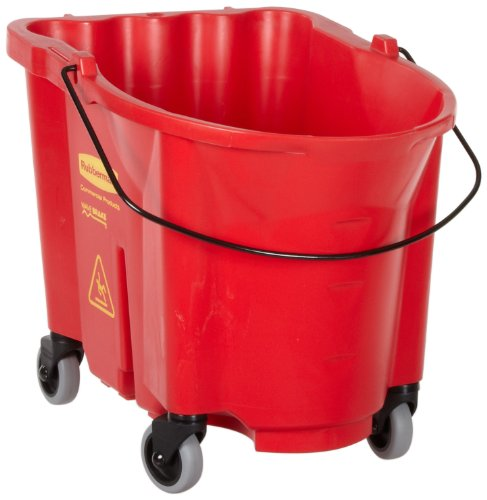(Rubbermaid Commercial WaveBrake Bucket, 35-Quart Capacity, 20.1-Inch Length x 16-Inch Width x 17.4-Inch Height, Red (FG757088RED))