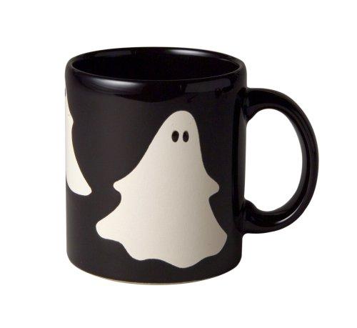 Waechtersbach Halloween Ghosts Mug, Black, Set of 4