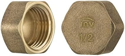 "1//2/"" 3//4/"" 1/"" Thread Brass Pipe Screw Hex Blanking Plug Stop End Cap Male //Female"