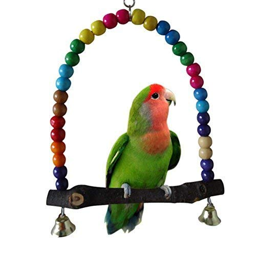 Ogquaton Perlas de Madera Coloridas Puente Columpio Pájaros ...