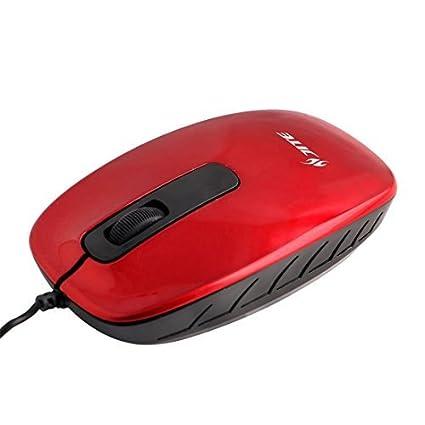 eDealMax Oficina PC Ordenador portátil LED Rojo USB 2.0 ratón óptico de 800 DPI ratones 3D