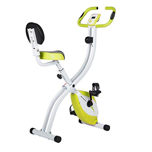 Ultrasport Unisex – Adult Fitness Bike Advanced Exercise LCD Display Folding Home Adjustable Resistance Levels with Hand…