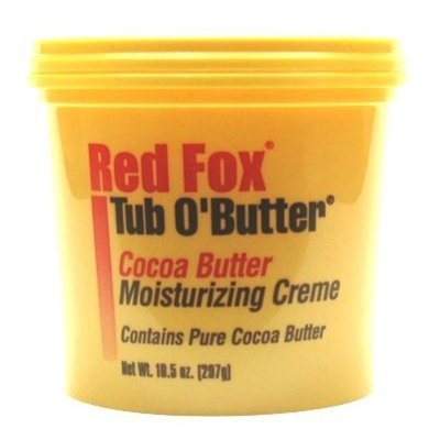 Red Fox Tub O' Butter Cocoa, Moisturizing Creme 10.5 oz (Pack of 3)
