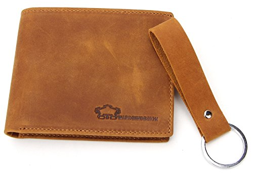 Wardeindesign Men's Leather Wallet Bifold RFID Designer engraved - and leather key fob by Wardeindesign (Image #4)
